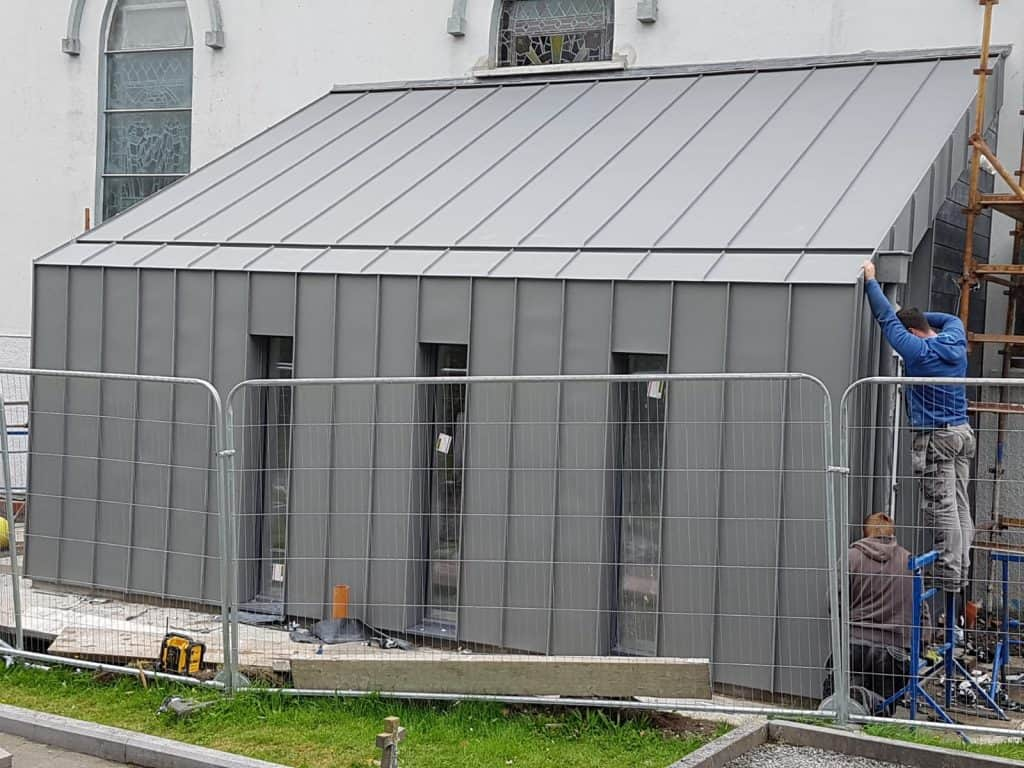 4 - extension to St Josephs Church Castletown Kinneigh in VM quartz-zinc
